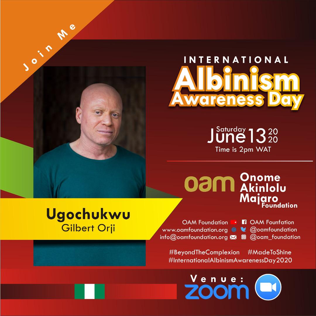 International Albinism Awareness Day, IAAD,   #BeyondTheComplexion,  Albino #AlbinismAwareness #Albinism #OAMFoundation #AlbinoFoundation AlbinoFoundationInNigeria #inmyskiniwin #AlbinismIsBeautiful #MadeToShine