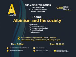 The following are scenes and sights from 'Albinism and the Society', a one day event organised by Onome Akinlolu Majaro Foundation in partnership with The Albino Foundation (Lagos chapter). The event which held on Tuesday, 21st of November 2016 was indeed exciting and educating for all participants.q